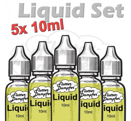 Tabak Liquid-Probierset 5.6 (5x10ml) low