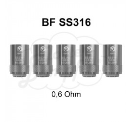 BF SS316 Coils 0,6 Ohm