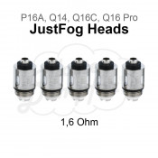 Justfog Heads - 1,6 Ohm