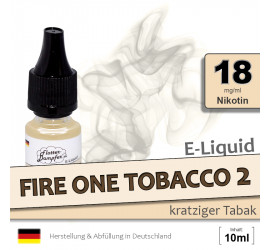 E-Liquid Fire One Tobacco 2 (high 18)