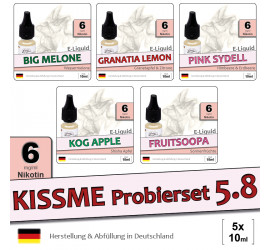 Frucht E-Liquid Probierset 5.8 (low 6)