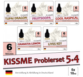 Frucht E-Liquid Probierset 5.4 (low 6)