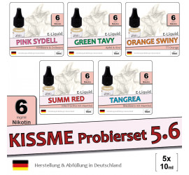 Frucht E-Liquid Probierset 5.6 (low 6)