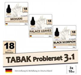 Tabak Liquid-Probierset 3.1 (high 18)