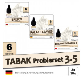 Tabak E-Liquid-Probierset 3.5 (low 6)