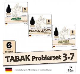 Tabak E-Liquid-Probierset 3.7 (low 6)