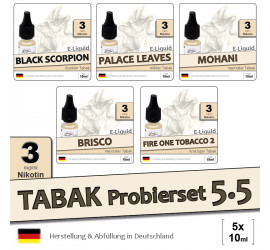 Tabak Liquid-Probierset 5.5 (5x10ml) light