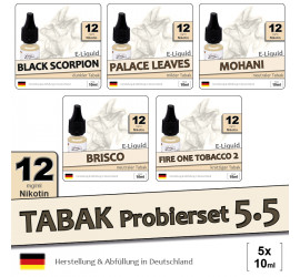 Tabak Liquid-Probierset 5.5 (5x10ml) medium