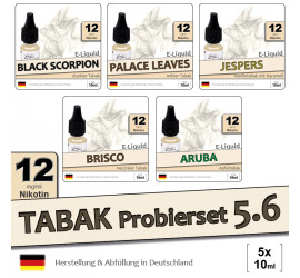 Tabak Liquid-Probierset 5.6 (5x10ml) medium