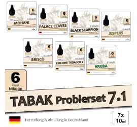 Tabak Liquid-Probierset 7.1 | 7x10ml low