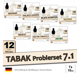 Tabak Liquid-Probierset 7.1 | 7x10ml medium