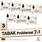 Tabak Liquid-Probierset 7.1 | 7x10ml light