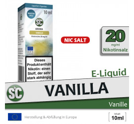 SC Vanilla NS Liquid (high 20)