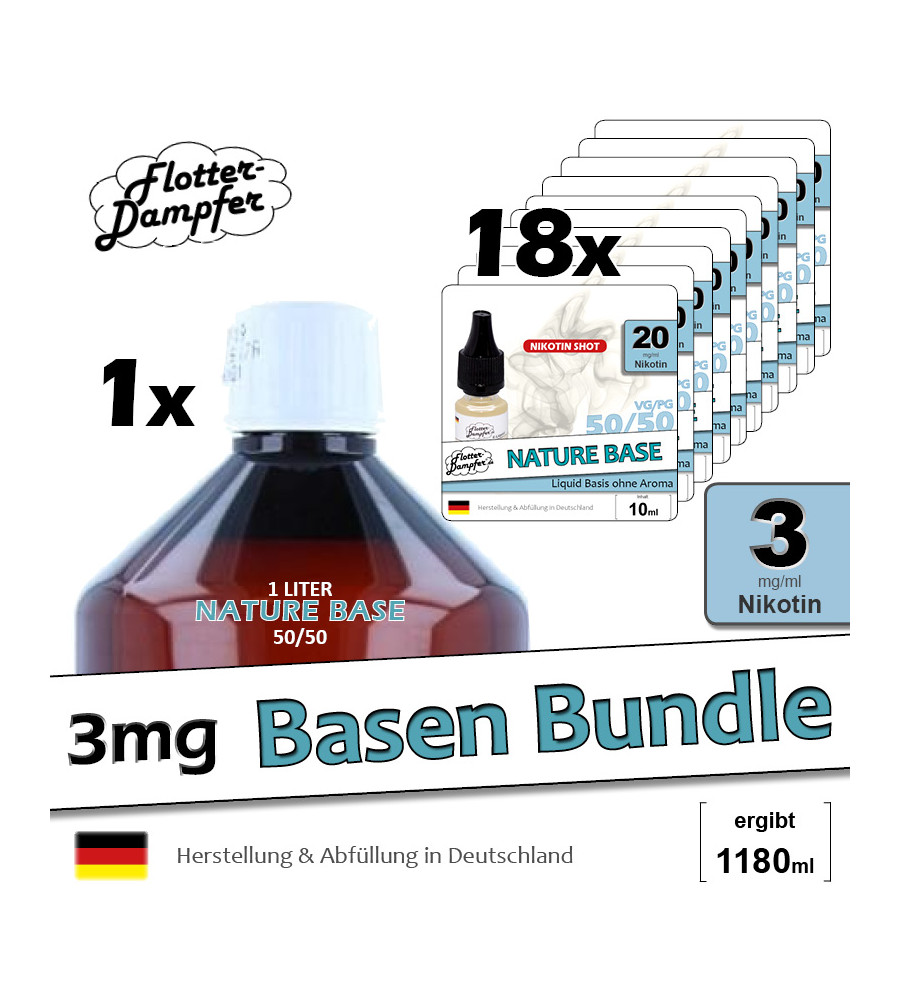 Basen Bundle 50/50 - 3mg (1180ml)