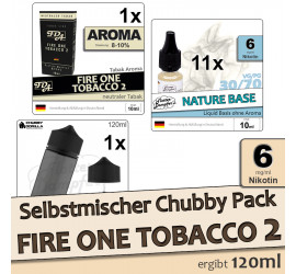 Selbstmischer Pack: Fire One Tobacco 2 (low)